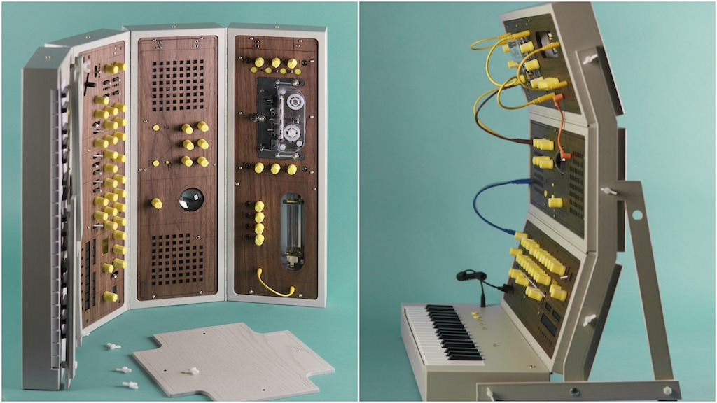 Modular Synthesizer Front and Side