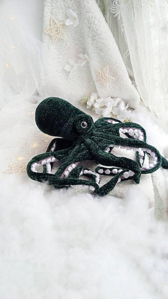 Plush Crocheted Octopuses Green