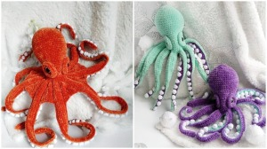 Plush Crocheted Octopuses