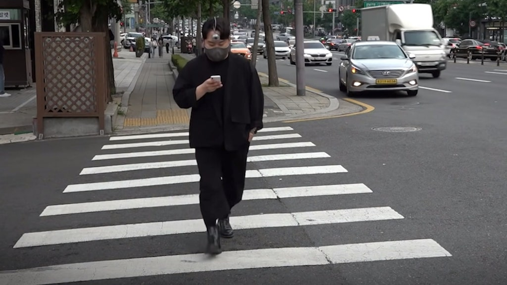 Third Eye to Walk While Looking at Smartphone