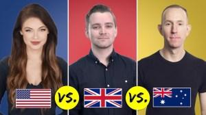 US UK Australia English