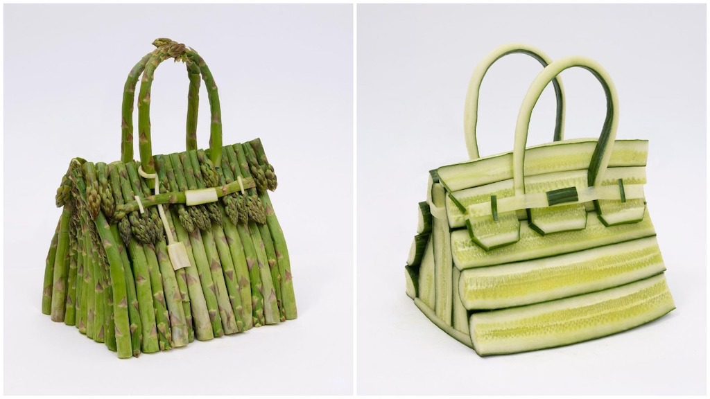 Iconic Hermès Birkin Bags Made Out of Vegetables