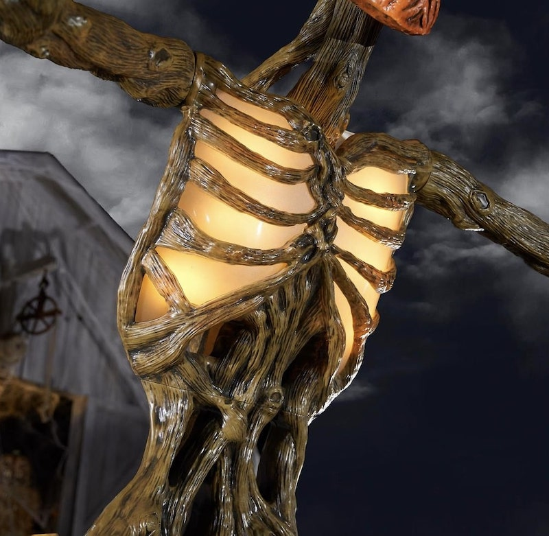 12 ft Giant Inferno Pumpkin Skeleton with LCD Eyes Body