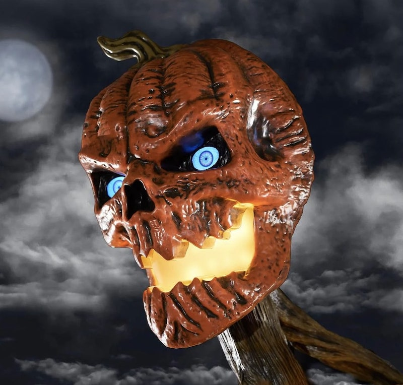 12 ft Giant Inferno Pumpkin Skeleton with LCD Eyes Head