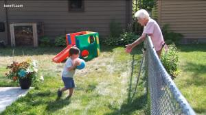 2 Year Old Boy 99 Year Old Neighbor Friends Through Fence