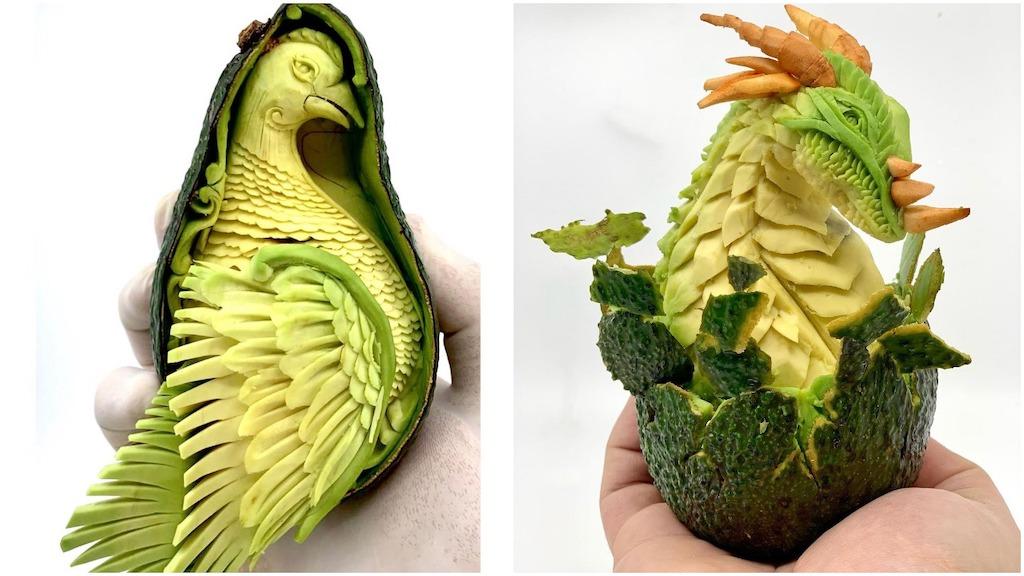 Avocado Carvings