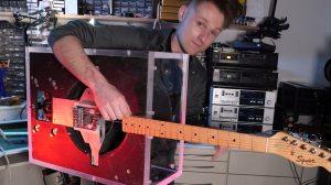 DIY Leslie Speaker SPINNING Guitar