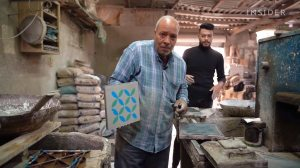 Handcrafting Tiles From Cement