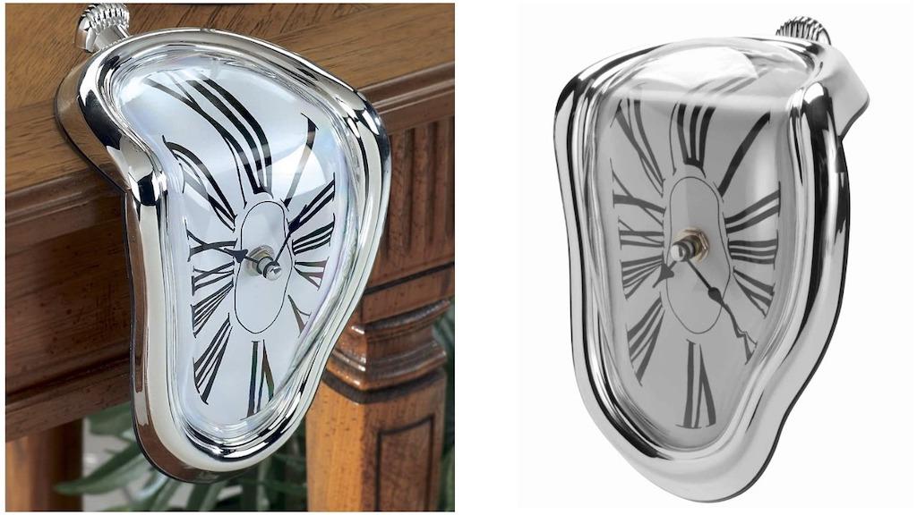 Salvador Dali Melting Clock Sculpture That Tells Time