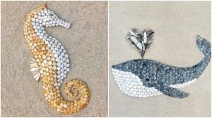 Seashell Animal Murals