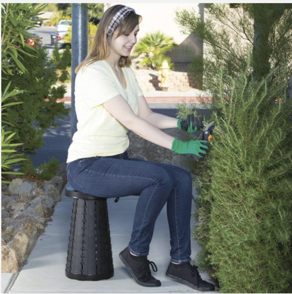 Telescoping Stool Gardening