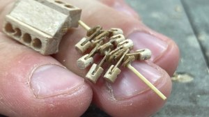 Tiny Wooden V8 Engine to Scale