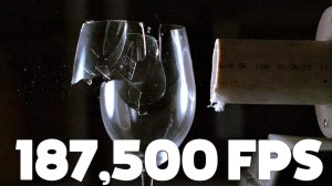 Wine Glass Shatters With Sound in Super Slow Motion