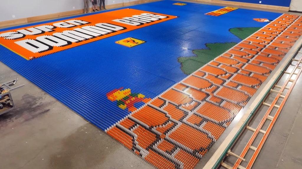 World Record Domino Robot Mural