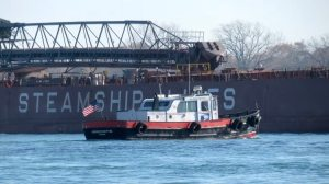 JW Wescott Mailboat on the Detroit River