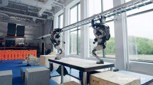 Boston Dynamics Atlas Pair Does Parkour