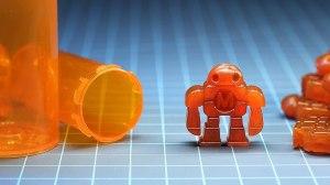 Melting Pill Bottles Into Robot Figures