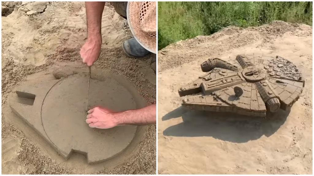 Millennium Falcon Out of Sand