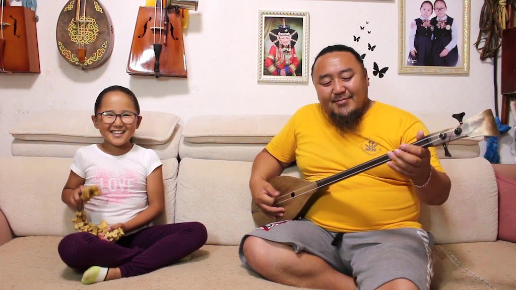 Mongolian Throat Singer Performs With Daughter