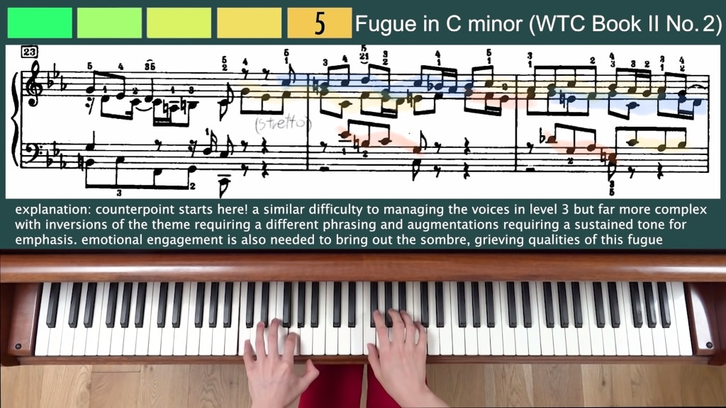 8 Levels of Bach on Piano