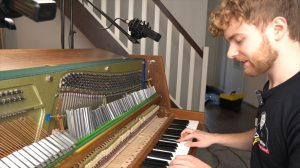 88 Tuning Forks on Piano