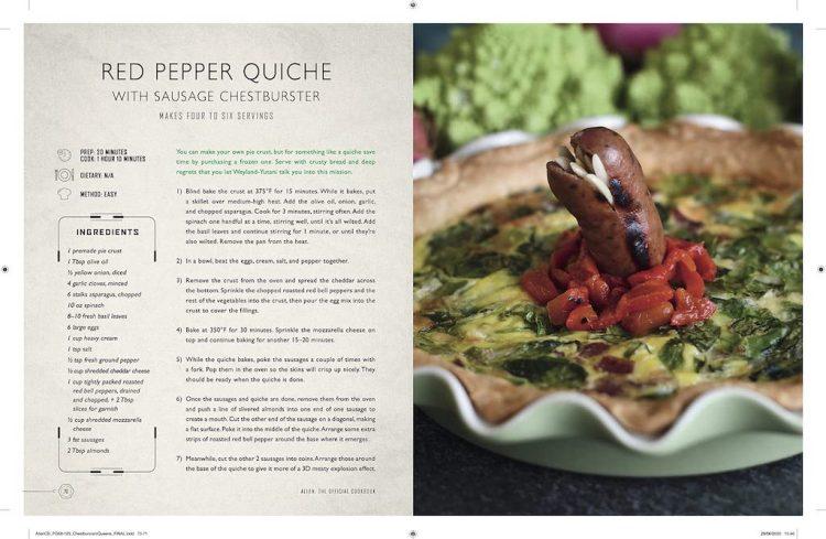 Alien Cookbook Quiche Sausage Chestburster