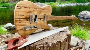 Building Guitar in Forest