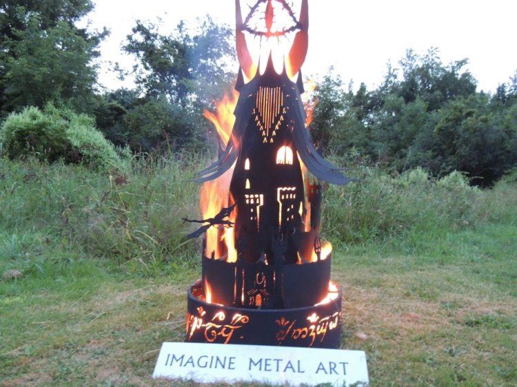 Eye of Sauron Metal Fire Pit Bottom