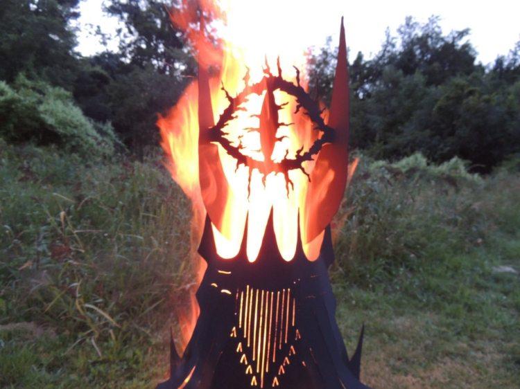 Eye of Sauron Metal Fire Pit Bright