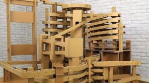 Giant Cardboard Marble Run