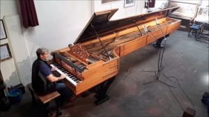 Hyperion Knight Playing Longest Piano in the World Alexander