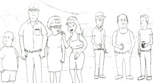 King of the Hill Pencil Test