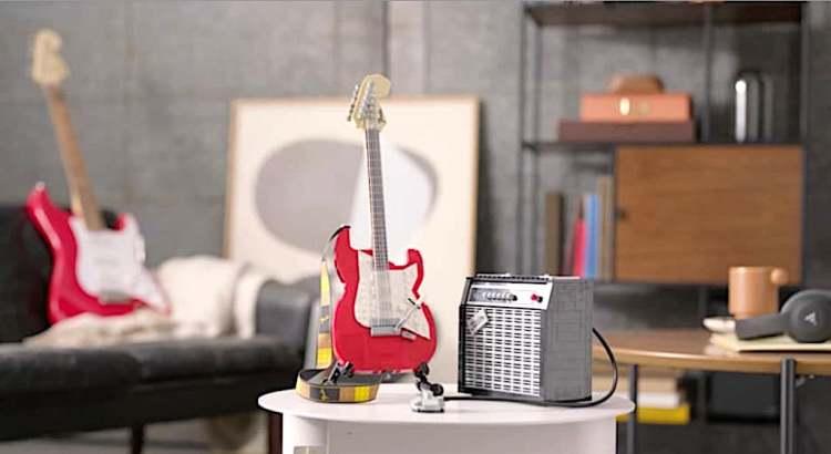 LEGO Fender Strat Display