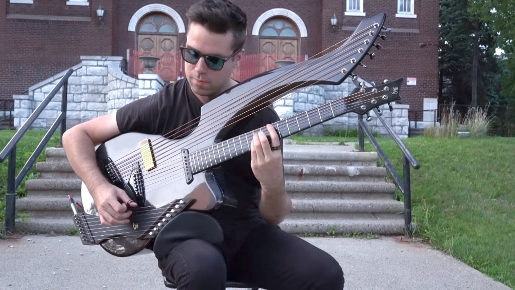 METALLICA For Whom The Bell Tolls String Harp Guitar Cover Jamie Dupuis