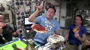 Pizza Night at the International Space Station