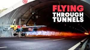 Plane Flying Through Tunnels