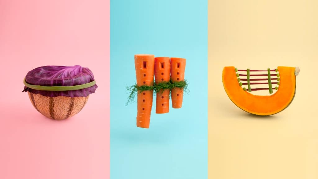 Stop Motion Fruits and Vegetables