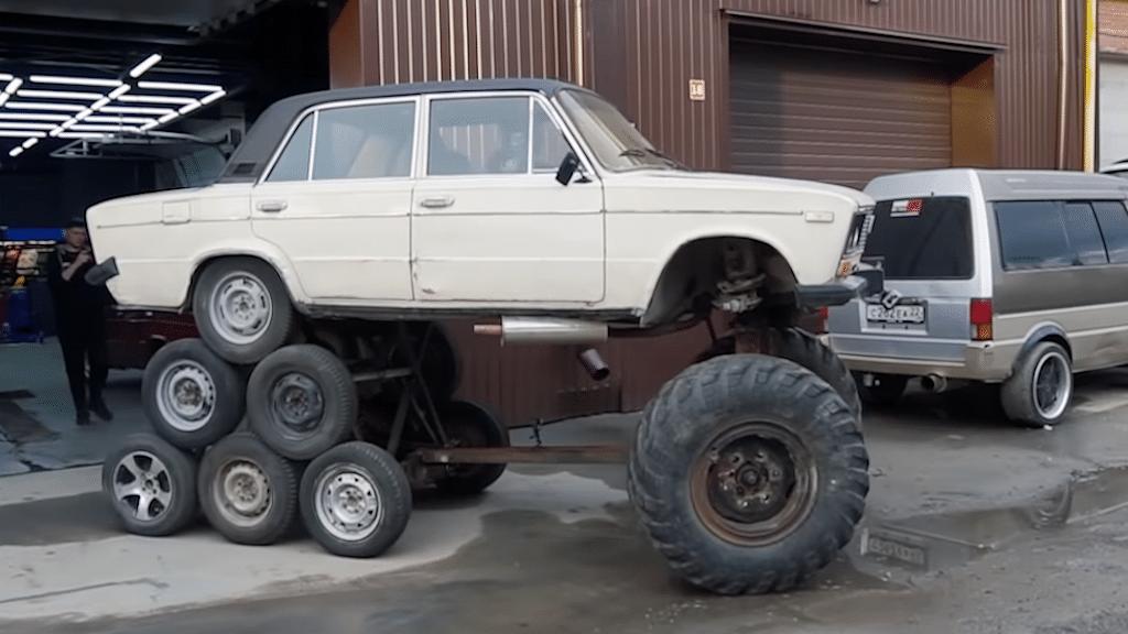 14 Wheeled Monster Lada Sedan
