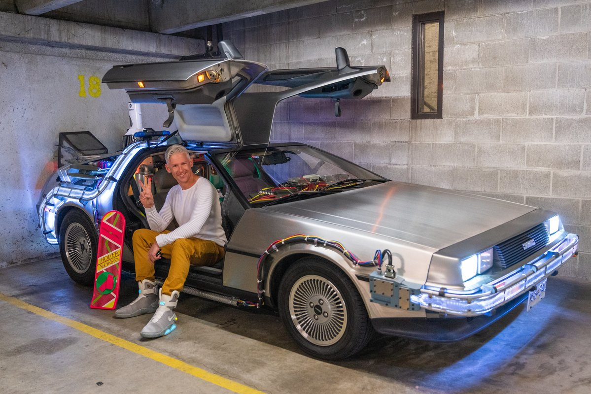 Tour of a Customized 'Back to the Future' DeLorean - laughing squid