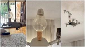 Drone Screws in Light Bulb