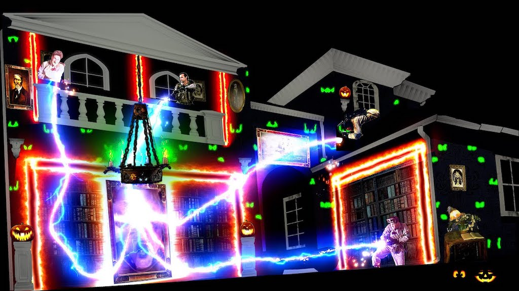 Ghostbusters Projection Mapped Light Show
