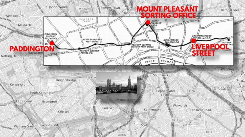 London Hidden Railway for Mail