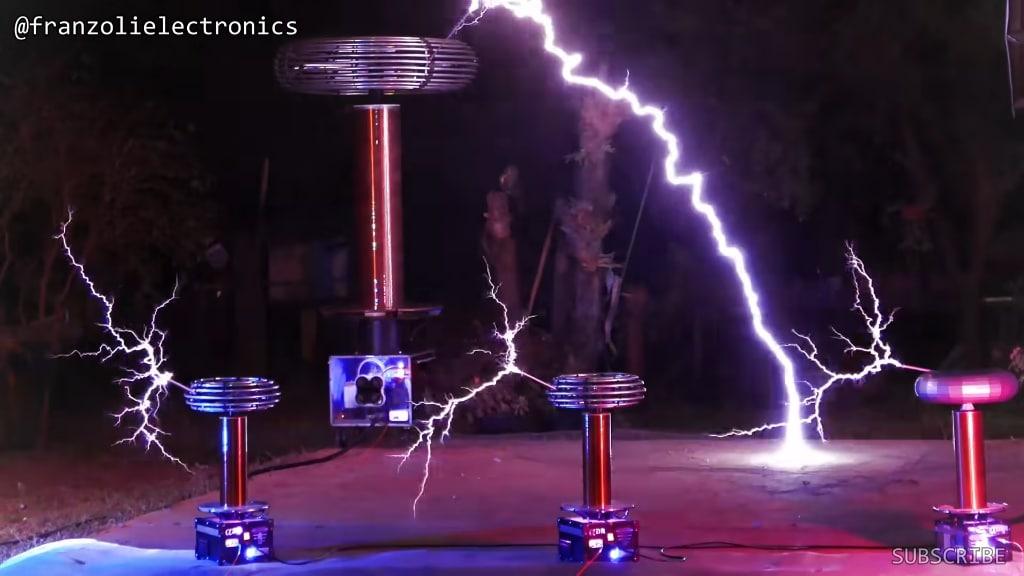 One More Time Daft Punk Tesla Coils