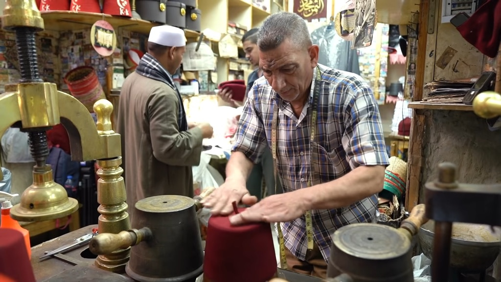 One Of The Last Fez Makers In Cairo