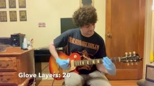 Playing Enter Sandman With Gloves