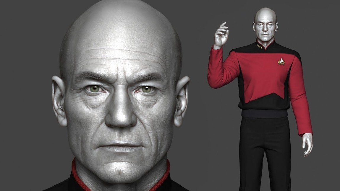Realistic Rendering Captain Picard