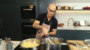 Stanley Tucci Prepares Spaghetti Aglio e Olio