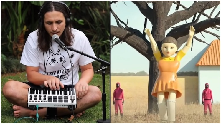 A Live Looping Remix of an Animated Dancing 'Red Light, Green Light' Doll From 'Squid Game' - laughing squid