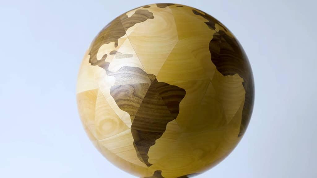Woodturned Globe