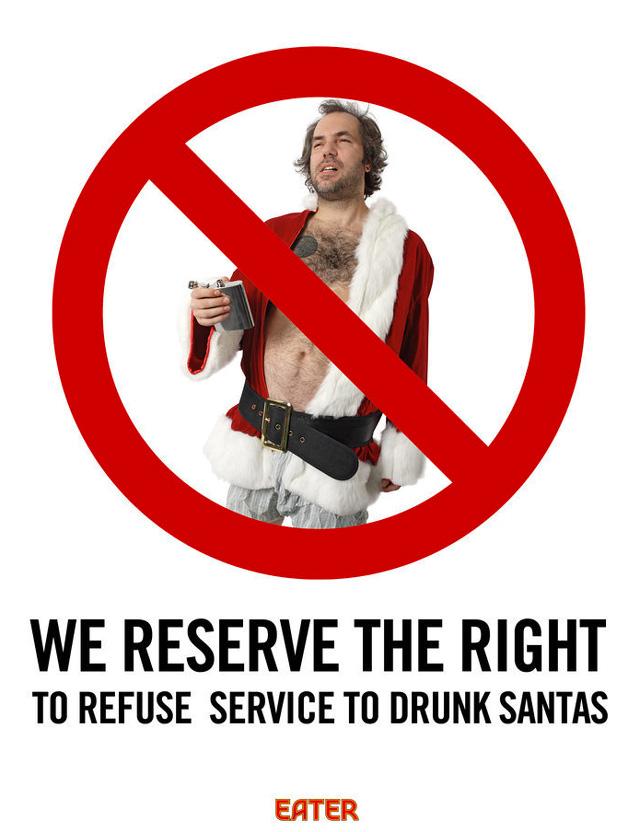 No Drunk Santas
